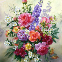 Beautiful Flower Bouquet Diamond Painting Kit