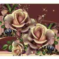 Copper Roses Diamond Painting Kit