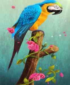 Diamond Painting Papegaai op een tak - 30x40 CM - Volledig - SEOS Shop ®