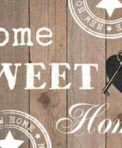Diamond Painting Pakket Home Sweet Home Blank Hout - Volledig - Full - 40x30 cm - SEOS Shop ®