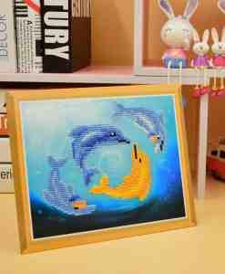 Diamond Painting Pakket voor kinderen - Dolfijnen - SEOS Shop ®