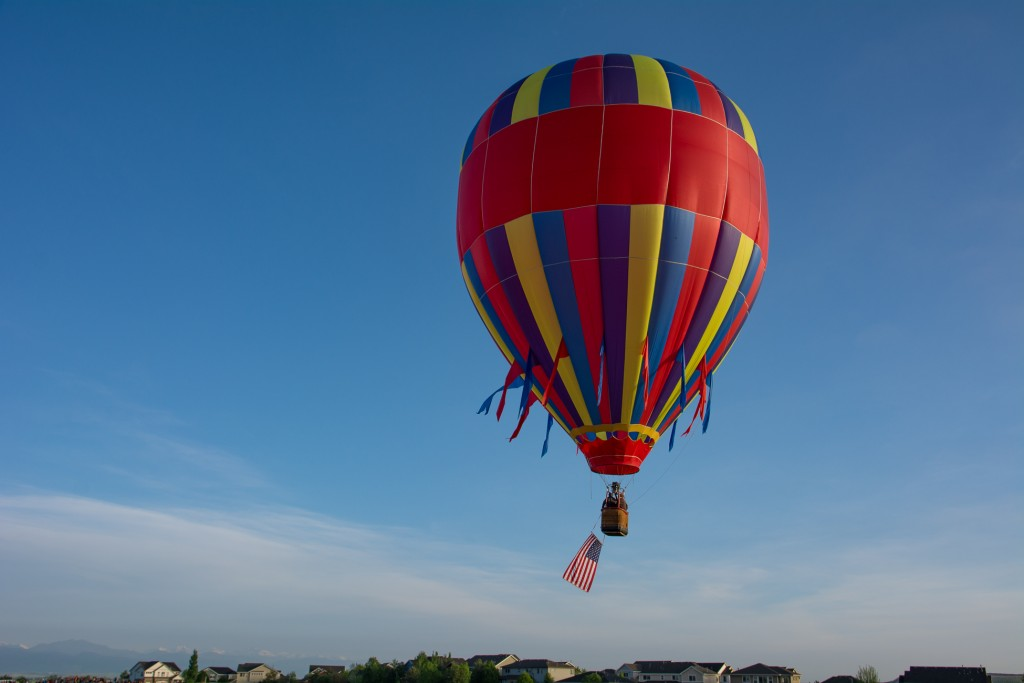 First balloon to open up the festival