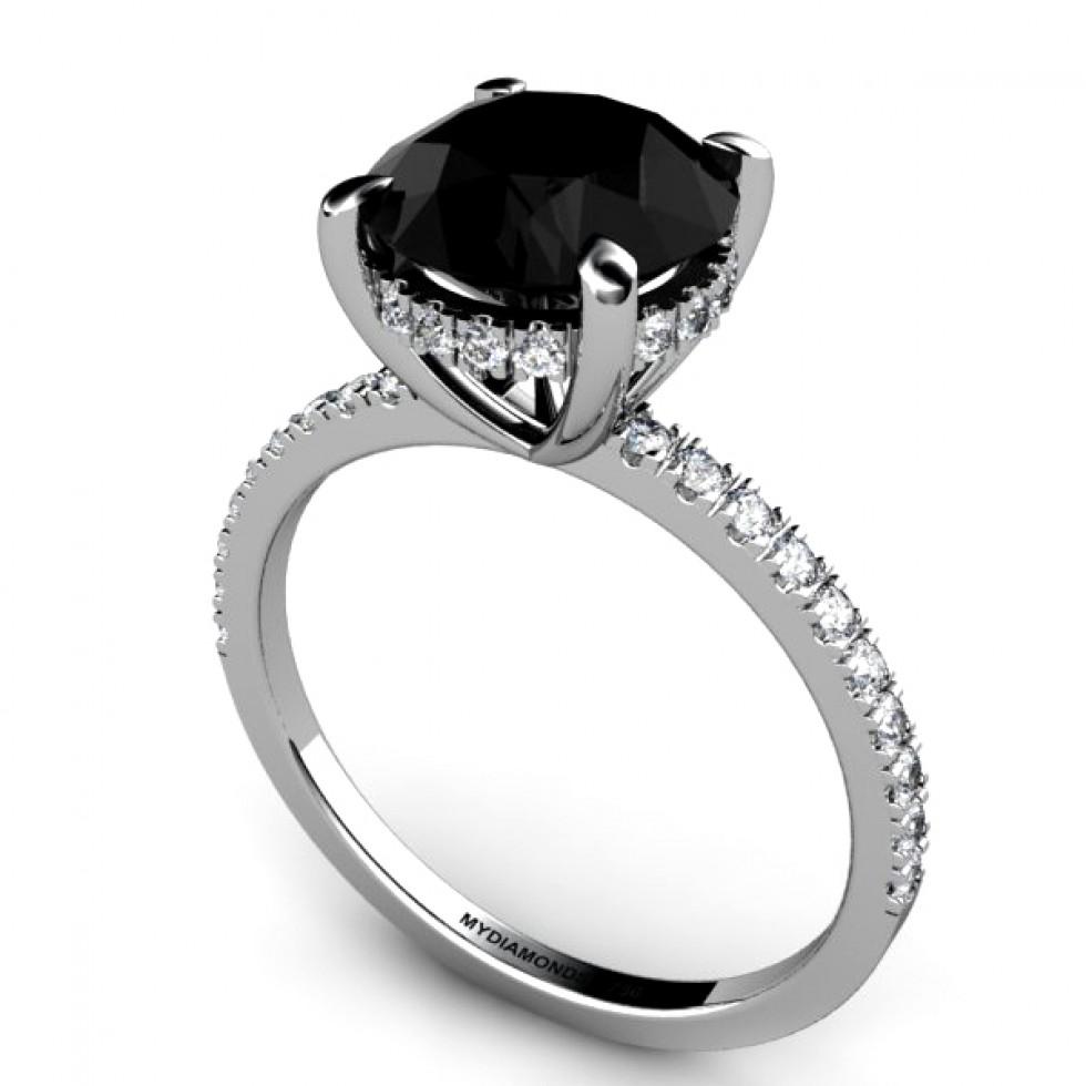 All About Black Diamond Engagement Rings  Black Diamond Ring