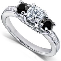All About Black Diamond Engagement Rings | Black Diamond Ring