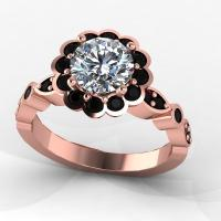 Rose Gold Ring: Rose Gold Ring Black Diamond