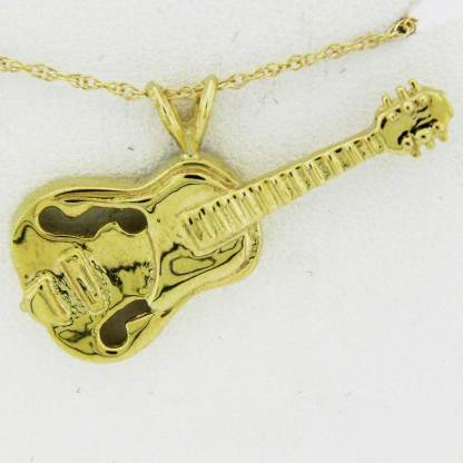 Yellow Gold Guitar Pendant