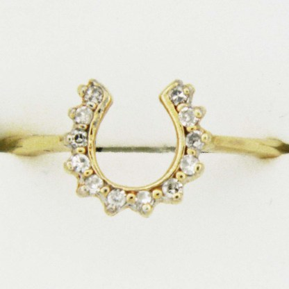 Yellow Gold Diamond Horseshoe Custom Ring