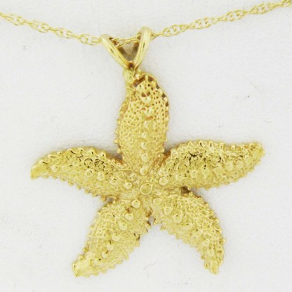 Yellow Gold Starfish Pendant