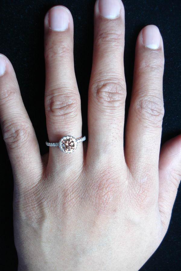 Loose Diamond Natural Brown Diamond Round Diamond