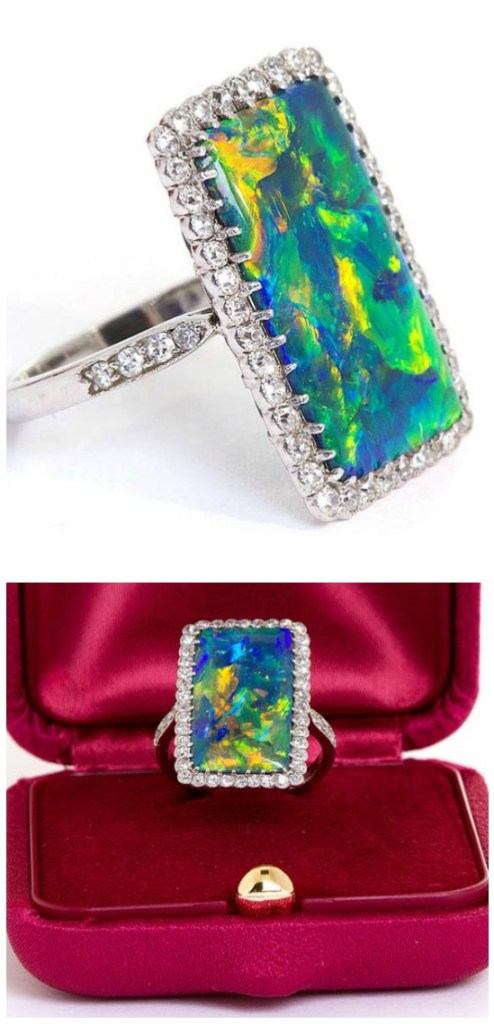 The 'rarest' Art Deco opal and diamond ring. A stunning antique piece.