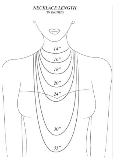 Do you know which necklace lengths look best on you Check out the jewelry sizing cheat sheet. Via Diamonds in the Library.