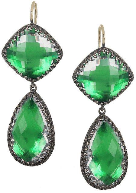 Larkspur & Hawk Sophia oxidized sterling silver topaz earrings. Via Diamonds in the Library.