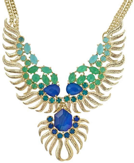 Fenton necklace in cactus. By Kendra Scott. Via Diamonds in the Library.