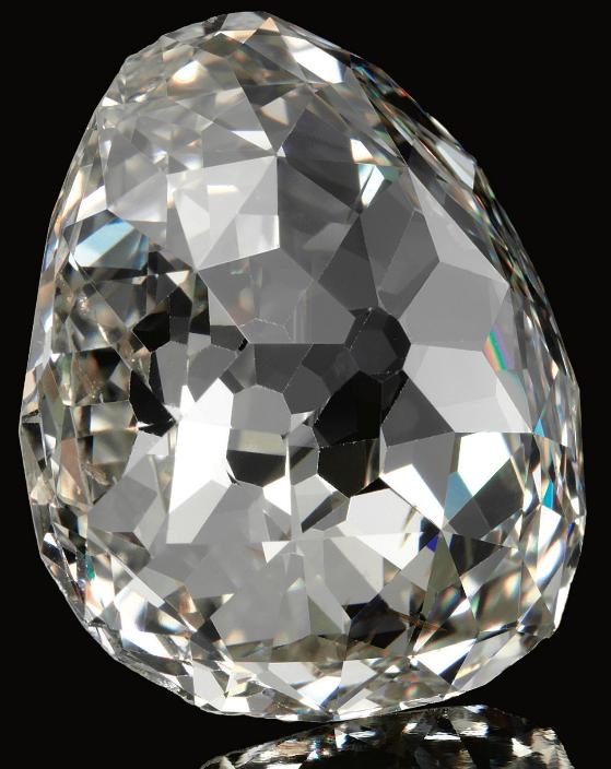 The Beau Sancy - a 34.98 carat a modified pear double rose-cut diamond previously owned by the royal family of Prussia. Via Diamonds in the Library.