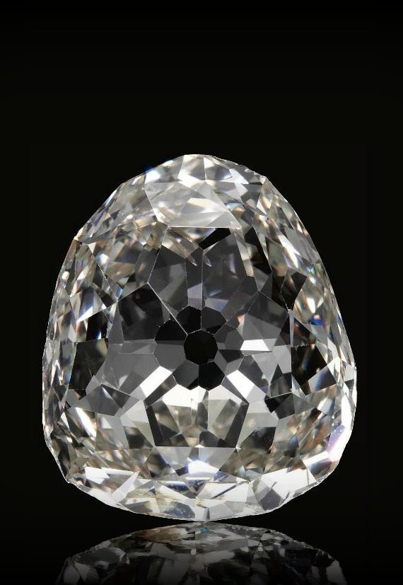 The Beau Sancy - an extraordinary 34.98 carat a modified pear double rose-cut diamond previously owned by the royal family of Prussia. Via Diamonds in the Library.
