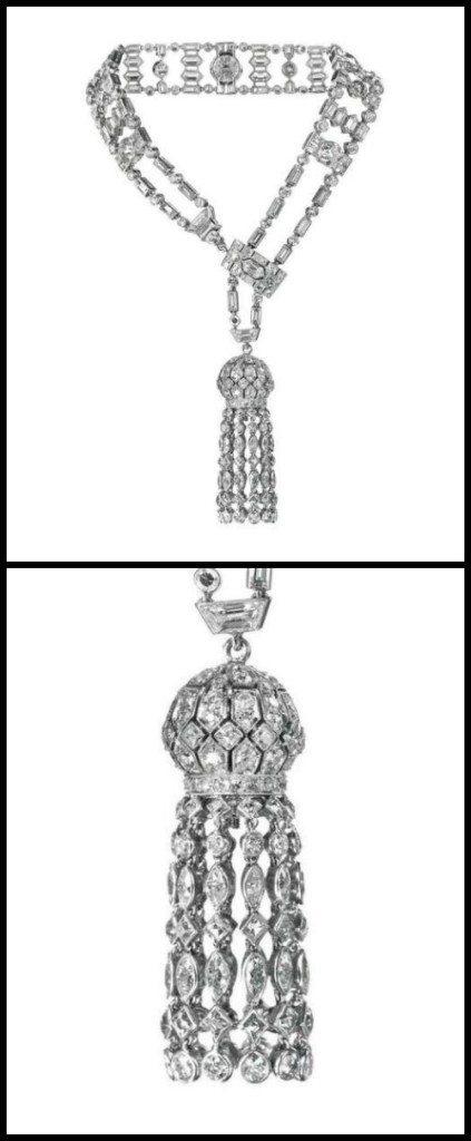 An antique Art Deco diamond tassel bracelet, Van Cleef & Arpels. Paris, circa 1922. Via Diamonds in the Library.