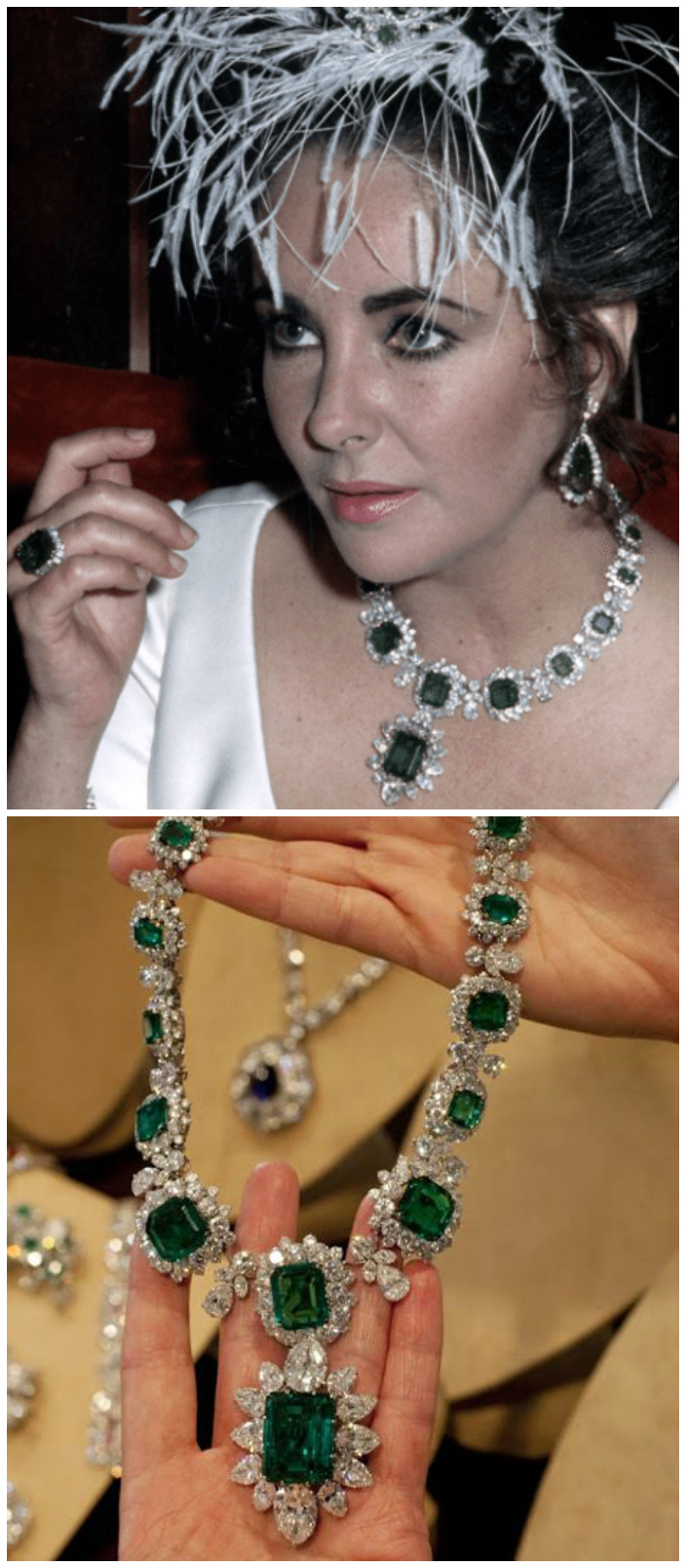Elizabeth Taylor's Bulgari emeralds and diamonds.
