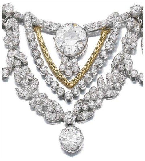 Extreme detail Spectacular gold and diamond necklace by Marchak. Via Diamonds in the Library.