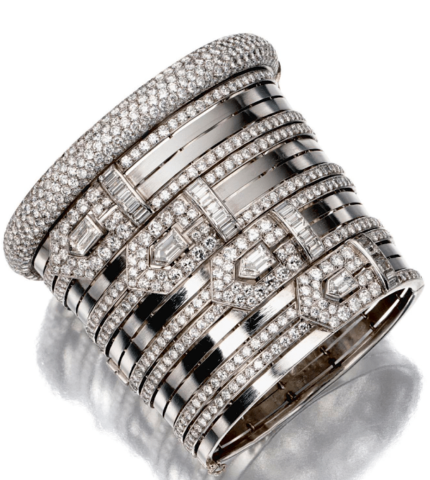 1930's diamond and platinum bracelet, Lacloche Frères. Via Diamonds in the Library.