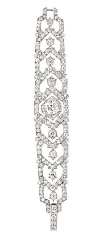 A glamorous 1940's Cartier diamond bracelet.