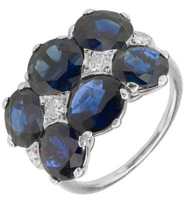An Art Deco sapphire and diamond ring by Cartier.