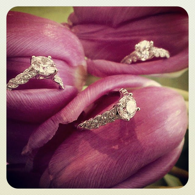 Diamond engagement rings by Jeff Cooper. Via Diamonds in the Library.