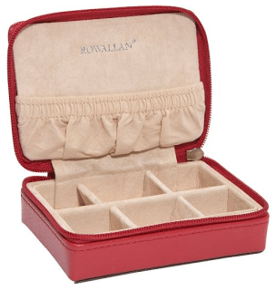 Jewelry travel storage case options: Rowallian Reece Mini Travel box. Via Diamonds in the Library.