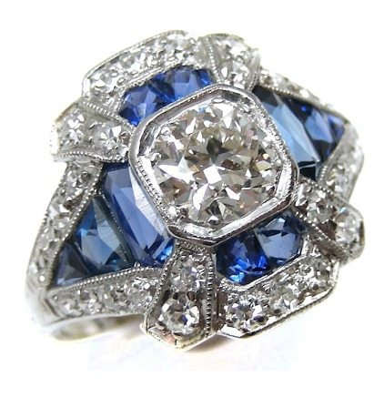 A glorious Art Deco sapphire and diamond ring.