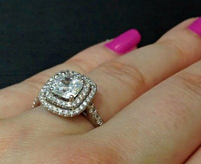 Double halo diamond engagement ring by Sasha Primak. Via Diamonds in the Library.