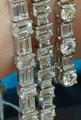 Alternate view - Three fabulous diamond bracelets by Sasha Primak. Via Diamonds in the Library.