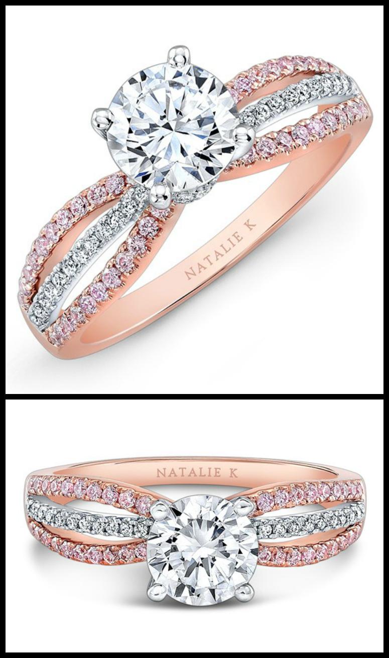 Round Wedding Rings 83 Beautiful Natalie K rose gold