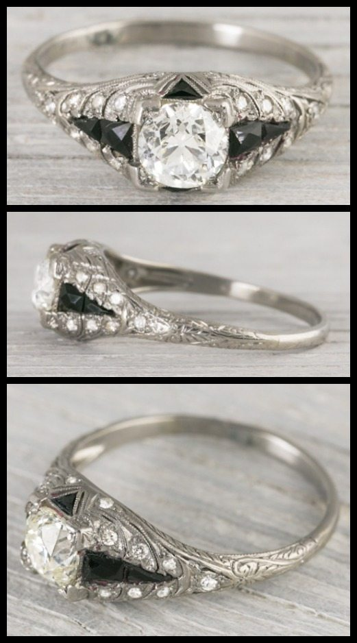 Wedding Ring With Names 57 Popular Antique Art Deco engagement