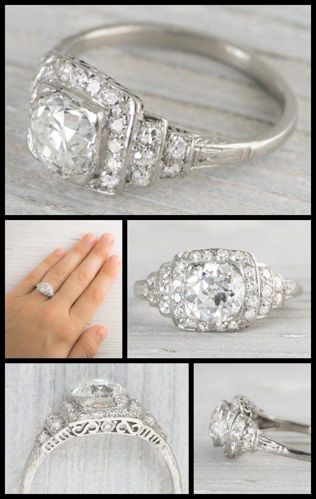 Most Popular Wedding Ring Sets 74 Best Antique carat Art Deco