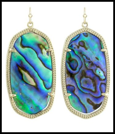 Kendra Scott Danielle Earrings in Abalone Shell. Via Diamonds in the Library's jewelry gift guide.