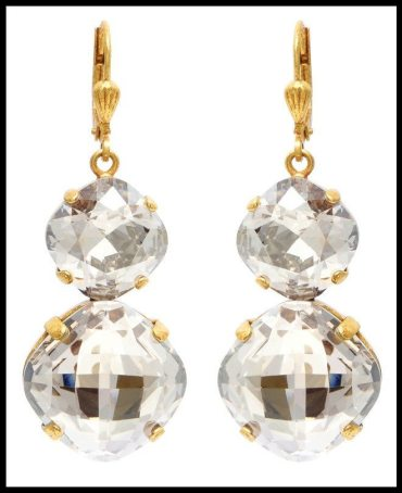 La Vie Parisienne Double Drop Crystal Earrings. Via Diamonds in the Library's jewelry gift guide.