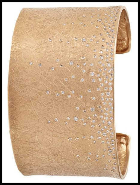 Todd Reed wide diamond cuff. Via Diamonds in the Library.