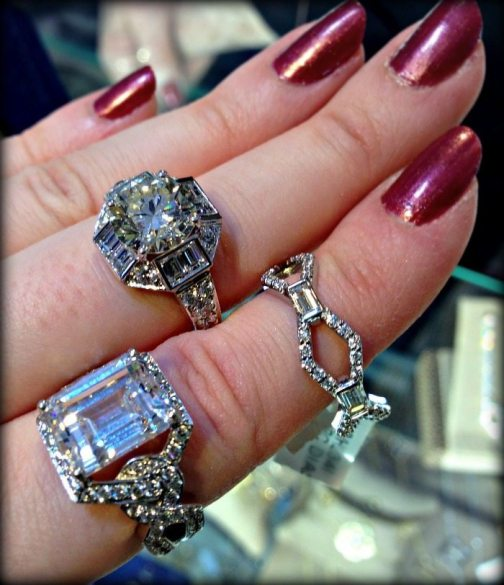 Diamond rings by Gumuchian. Via Diamonds in the Library.