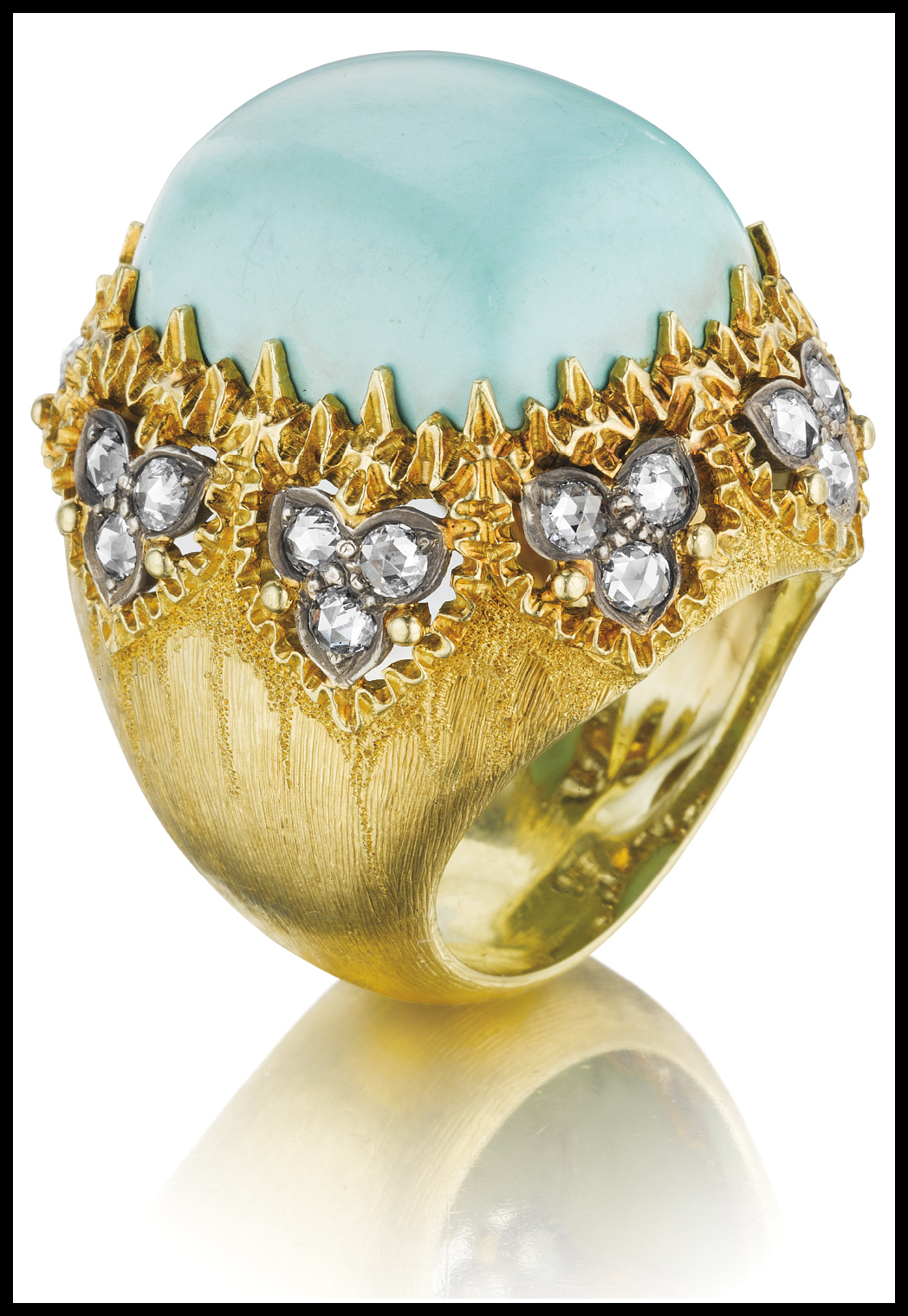 Diamond And Turquoise Wedding Rings 84 Spectacular Buccellati turquoise and diamond