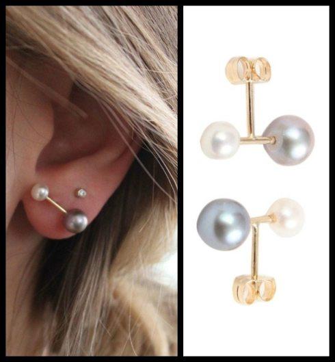 Hortense Majorette pearl earrings, at Catbird. Via Diamonds in the Library.