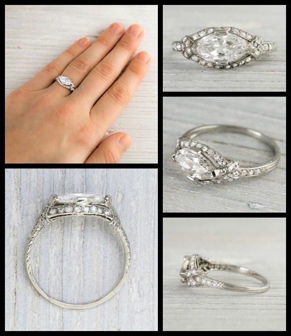 Tiffany Wedding Ring Sets 43 Nice Art Deco East West