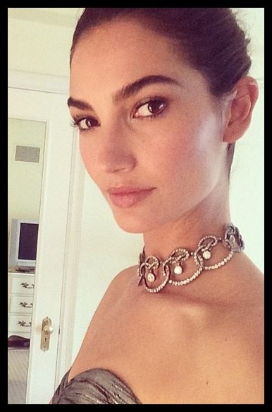 Lily Aldridge in antique Stephen Russell diamonds at the 2014 Met Gala.