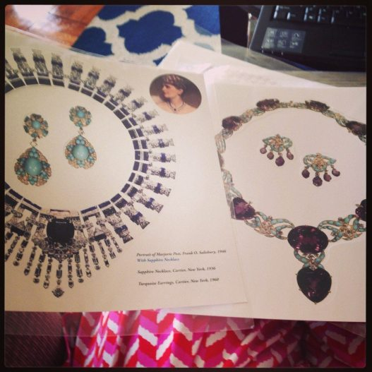 Marjorie Merriweather Post's Cartier jewels in paper form!