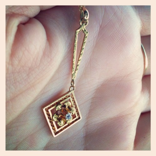 Victorian gold and diamond necklace.