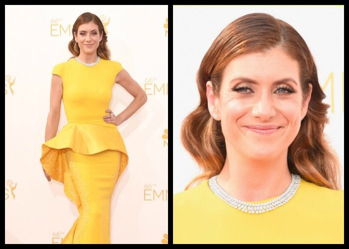 Kate Walsh in a 95 carat Chopard diamond necklace at the 2014 Emmy awards.