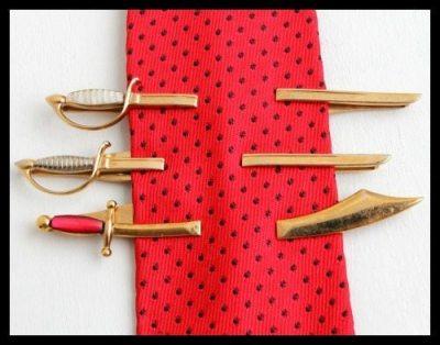 Vintage sword tie clips from Maejean Vintage