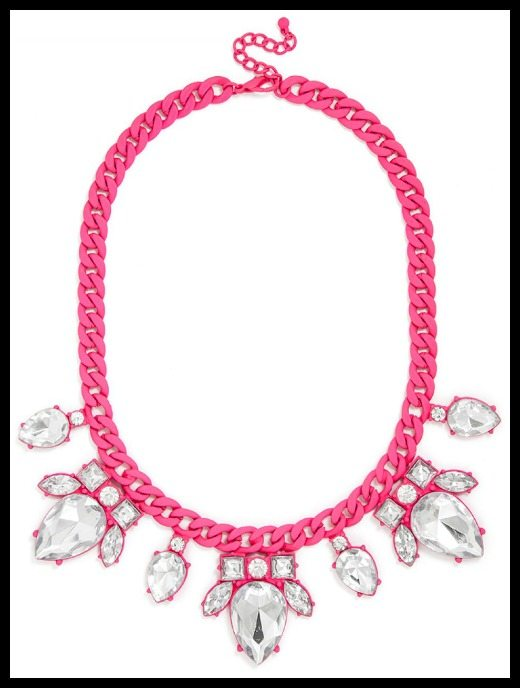 BaubleBar Dipped Scarab Collar in hot pink