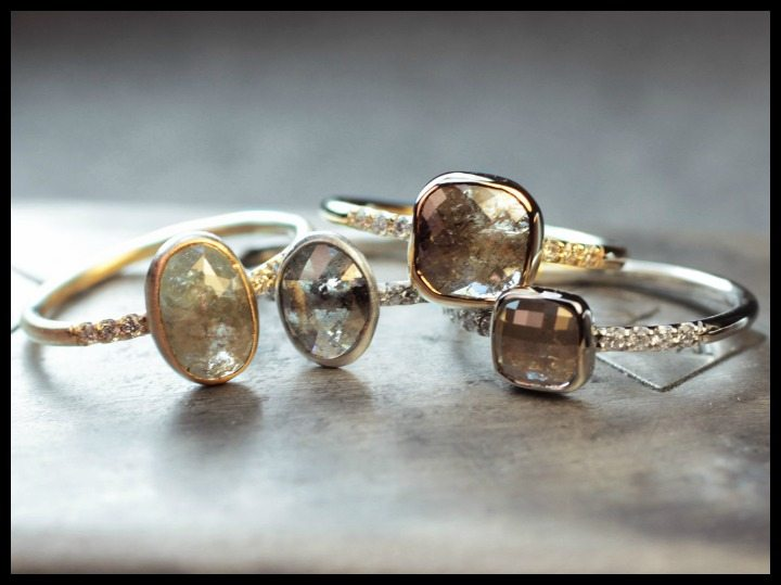 One-of-a-kind diamond engagement rings by ChincharMaloney.