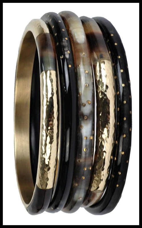 Ashley Pittman Nuru Dark Horn bangles. Handmade in Kenya by local artists.