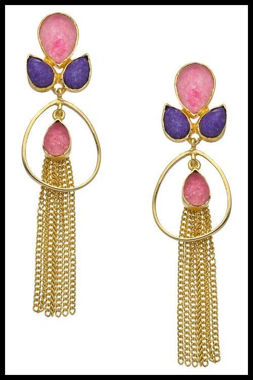 Belsi Gold Farah Chandelier earrings.