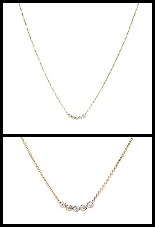 Zoe Chicco diamond bubble necklace.